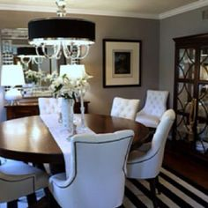 Black And White Striped Rug For Dining Room