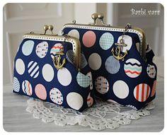 Frame purses - navy