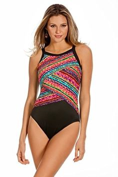 e728c8971d073 Miraclesuit Swimwear Color Block Night Light One Piece. Miraclesuit SwimwearNight  LightsHigh Neck ...