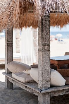 Carved Tribal Bale from Indonesia: Sands, Playa D'en Bossa, Ibiza, Spain Menorca, Ibiza Formentera, Eivissa Ibiza, Outdoor Spaces, Outdoor Living, Outdoor Decor, Outdoor Lounge, Tulum, Ibiza Strand