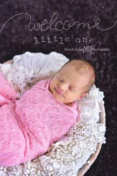 Newborn girl's portraits taken at home in St. Charles, IL with a traveling studio setup by Mandy Ringe Photography