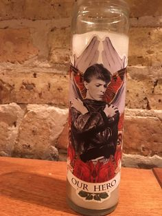 LIMITED EDITION David Bowie Altar Candle: Berlin Bowie