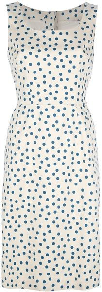 """""""Polka Dot Dress - Dolce"""" I think sheer or light weight silk/satin with painted dots. With a strapless lining...RAE"""