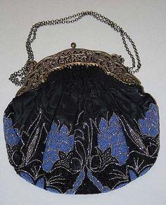 Purse  Date: ca. 1900 Culture: American Medium: silk, metal