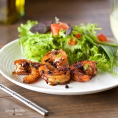 Cracked Pepper Shrimp (Whole30, Paleo, Low carb) by #LivingHealthyWithChocolate