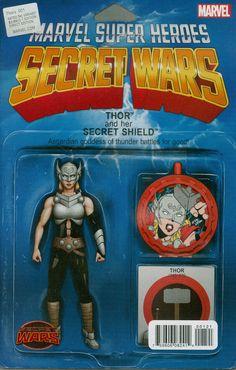 Thors #1 Cover B Variant John Tyler Christopher Action Figure Cover (Secret Wars Battleworld Tie-In)