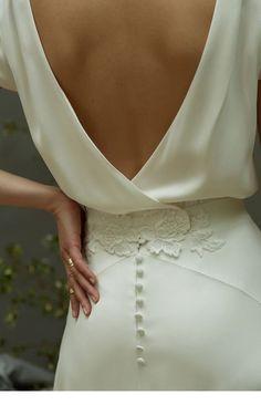 Nice white backless dress clasic design   Inspiring Ladies
