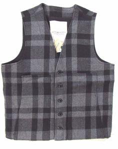 Denim & Supply Ralph Lauren buffalo plaid print vest size xl wool blend NEW  #DenimSupplyRalphLauren