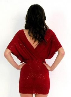 this is a beautiful red dress! (back)