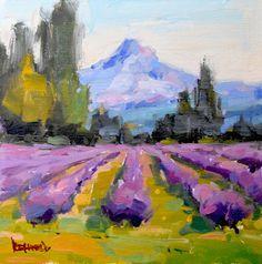 cathleen rehfeld • Daily Painting: #842 Blooming Lavender