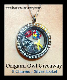 Inspired-Housewife: Origami Owl Sliver Locket + 5 Charms GIVEAWAY