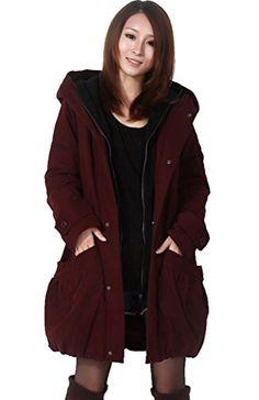 YUNY Womens Linen/&Cotton Big Pockets Fall Winter Padded Outwear Blue M