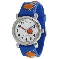 Geneva Platinum Kid's Basketball Design Watch