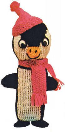 Penguin Bottle Cover Vintage Knitting Pattern for download