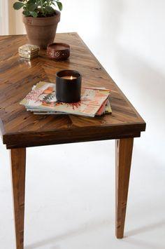 Coffee Table  40x19x19  Reclaimed Wood Chevron  by HurdandHoney, $400.00
