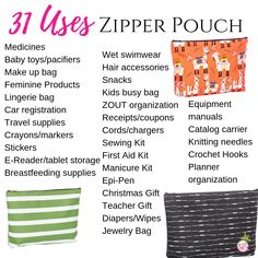 Thirty-One Zipper Pouch Thirty One Logo, Thirty One Baby, Thirty One Hostess, Thirty One Games, Thirty One Business, Business For Kids, Outlet Sale Thirty One, Thirty One Organization, Organizing Tips