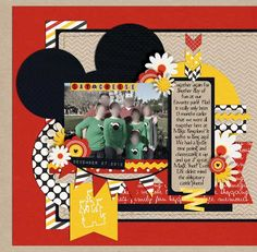 Cute disney layout Template Challenge #171 Magic Kingdom - MouseScrappers - Disney Scrapbooking Gallery