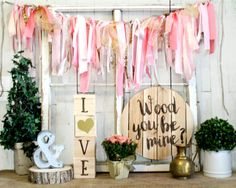 Rustic Valentines Day Decor - Wood You Be Mine? Wall Hanging - The ...