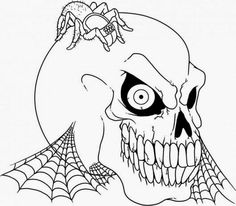 Scary Coloring Pages For Adults