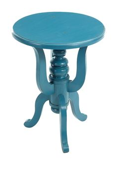 $199 Oh, I so want this for the guest bedroom! Cassidy Blue Round Side Table by Jeffan on @HauteLook