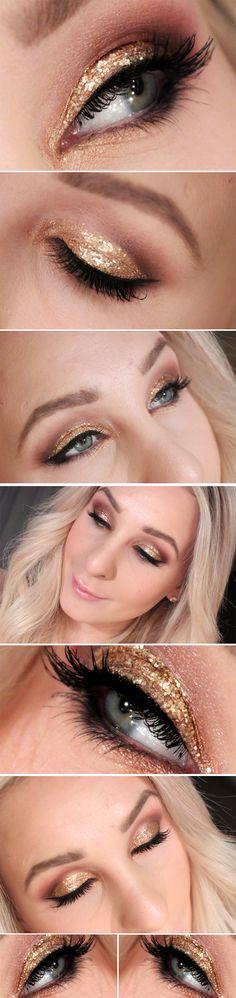 Dagens makeup – GOLDEN NEW YEARS EVE | Helen Torsgården - Hiilens sminkblogg | Veckorevyn