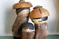 Kokeshi Family by Jacob and Lisa Hodsdon