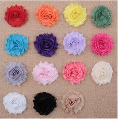 Baby Girls2.5inch Shabby Mesh Tulle Fabric Flowers For Diy Headbands Christmas Headwear Headbands Hairpin Hair Styling Accessories Aw19 From Convoy, $0.19 | Dhgate.Com