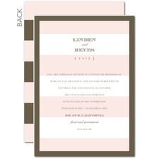 Deluxe Stripes Pink Wedding Invitations