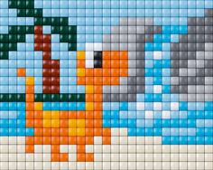 #pixelhobby #pixel #pixelen # creative #beads #dino