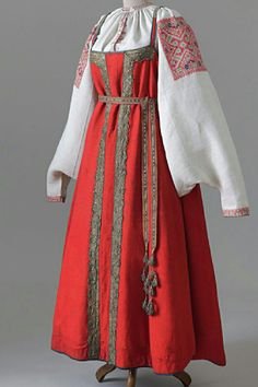 ДЕВИЧИЙ КОСТЮМ (ОЛОНЕЦКАЯ ГУБЕРНИЯ, КАРГОПОЛЬСКИЙ УЕЗД), XVIII -XIX В.
