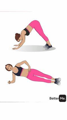 BetterMe: Home Workout & Diet Fitness Workouts, Arm Workouts At Home, Fit Board Workouts, Running Workouts, Best Workout Plan, Hip Workout, Workout Videos, Workout Women, Brazilian Butt Workout
