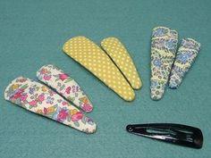 縫わずに作る「くるんでパッチンどめ」の作り方 手順|7|その他|ファッション小物|ハンドメイド、手作り作品の作り方ならアトリエ Baby Hair Accessories, Handmade Accessories, Handmade Hair Bows, Hair Decorations, Bow Hair Clips, Dress Sewing Patterns, Hair Ornaments, How To Make Bows, Sewing For Kids