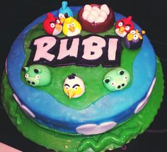 Angry Birds Cake. First time ever using the fondant, too.