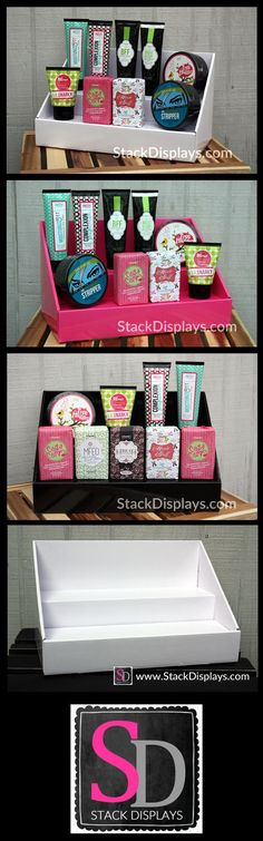 Looking for a great way to display your Perfectly Posh products at vendor events or home parties? Stack Displays come in colors that coordinate with your Perfectly Posh colors!