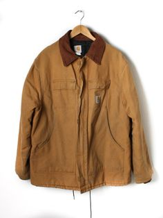 Camel Carhartt Mens work Coat by Flyinganyc on Etsy, $89.00