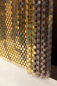 Vorhang / Geometrische Motive / aus Metall / Aluminium - METALEX - LE LABO DESIGN