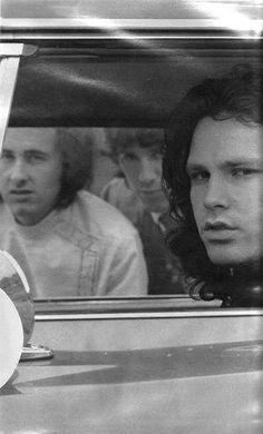Robby Krieger, John Densmore and Jim Morrison.