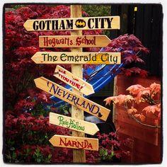 My new Fairytale signpost. Garden fun, signpost!