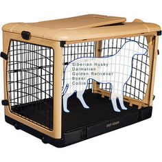 Large Pet Gear Deluxe Steel Dog Crate, 42""