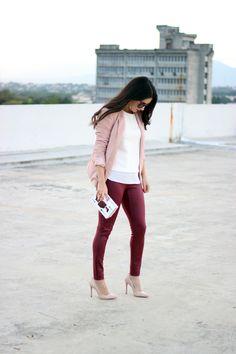 Anyelina's Closet: Burgundy And Soft Pink