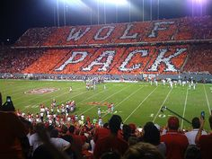 Fanpants by Pennington & Bailes brings you embroidered shorts, pants, and skirts of the highest quality. Shop for your favorite college team or create your own custom shorts, pants, or skirts with embroidered logos all over. Nc State Wolfpack Football, Football Ticket, Football Stadiums, Football Season, College Football, Nc State University, Nc State College, College Years, College Life