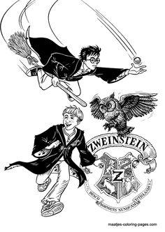 Achtergrond Tekenen Bij Kleurplaat Kleurplaat Zweinstein Harry Potter Partijtje Pinterest