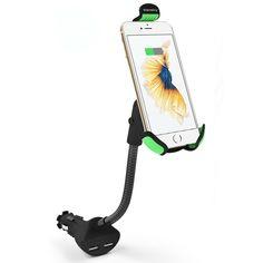 Vansky Car Phone Mount, Gooseneck Car Charger Holder Cradle