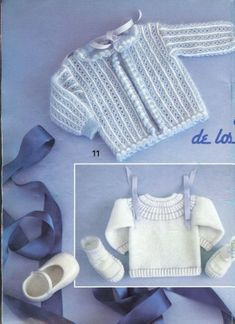 Gallery.ru / Фото #10 - Muestras y Motivos Especial Bebes 1 - tymannost Crochet Baby Clothes, Christening Gowns, Couture, Reborn, Knit Cardigan, Baby Knitting, Children, Kids, Doll Clothes