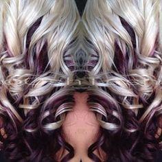 35 Lovely Purple Hair Color Ideas Trending in 2019 - Hair Color And Cut, Cool Hair Color, Hair Colors, Love Hair, Gorgeous Hair, Purple Hair, Burgundy Blonde Hair, Darker Blonde, Bright Blonde