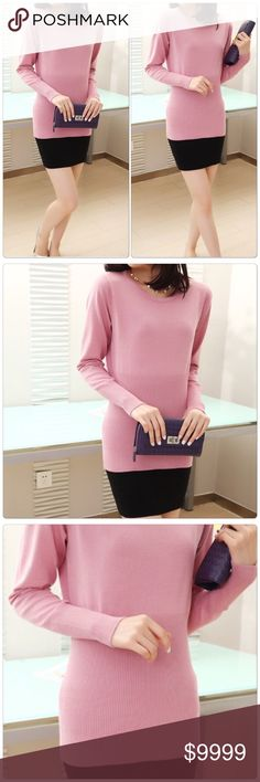 Cute Pink Long Sleeve Slim wear Lovely Pink long sleep slim wear the Material: Knitted, great for upcoming fall and winter season. ✅Price is firm unless bundle                                                                                                                             ❌NO TRADES. ❌NO LOWBALL OFFERS Sweaters
