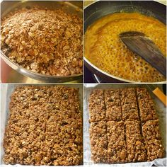 Peanut Butter Granola Bars - Healthy Snack Bars | Sharmis Passions Healthy Granola Bars, Healthy Bars, Healthy Sweet Treats, Healthy Snacks, Breakfast Recipes, Snack Recipes, Cooking Recipes, Granola Bars Peanut Butter, Food And Drink