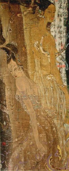 Ancient Time I  -  Gu Ying Qing  Chinese ink and color on rice paper (Contemporaneo)