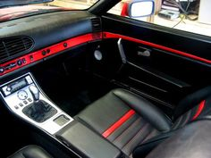 porsche 944 custom leather interior, or this with cream and bronze going through