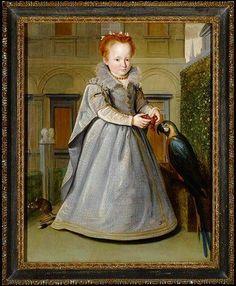 Santi di Tito (1536-1603) - Girl with Parrot    #TuscanyAgriturismoGiratola